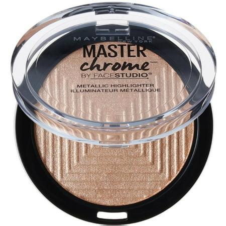 2 Pack - Maybelline New York Face Studio Master Chrome Metallic Highlighter, Molten Gold 0.24