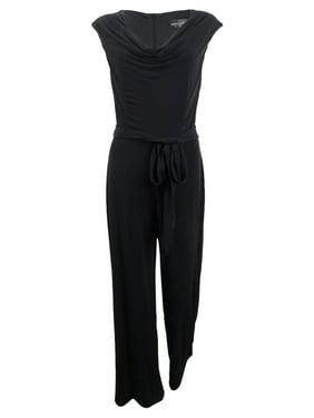 Connected Women's Cowl-Neck Wide-Leg Jumpsuit