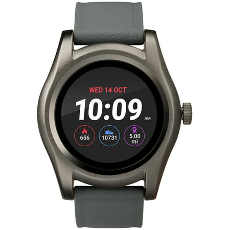 UPC 194366000078 product image for iConnect by Timex Gunmetal Round Touchscreen Watch, Gray Silicone Strap | upcitemdb.com