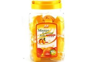 Coconut Jelly Dessert (Mango Flavor) 52.91oz (Pack of 1) by Jin Jin by