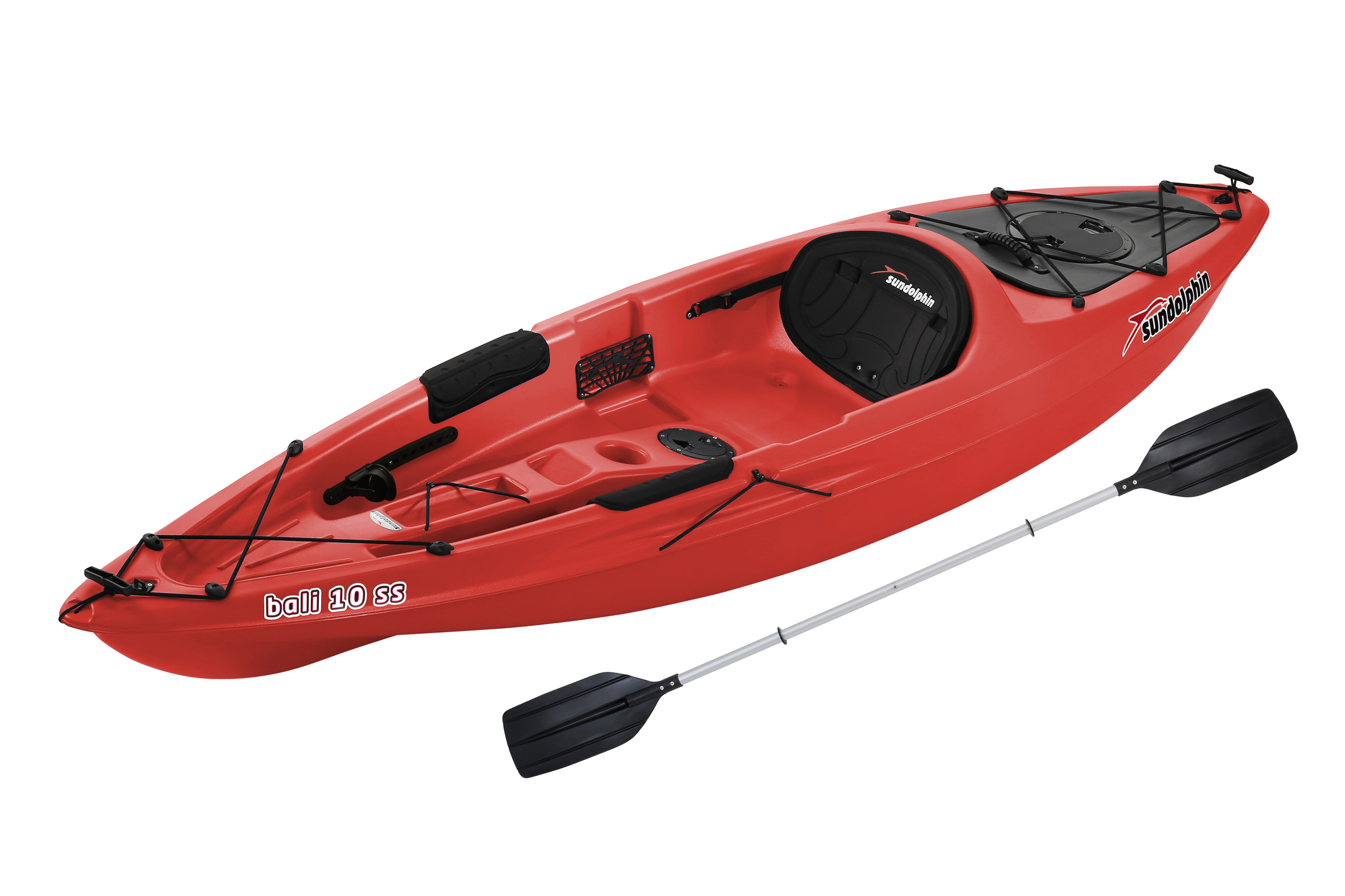 Sun Dolphin Bali 10' Sit-On Kayak Lime, Paddle Included by KL Outdoor