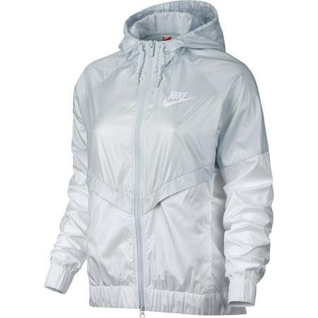 Nike - Nike Sportswear Windrunner Full Zip Womens Style Pure Platinum White  804947-011 - Walmart.com 9bcdaf346