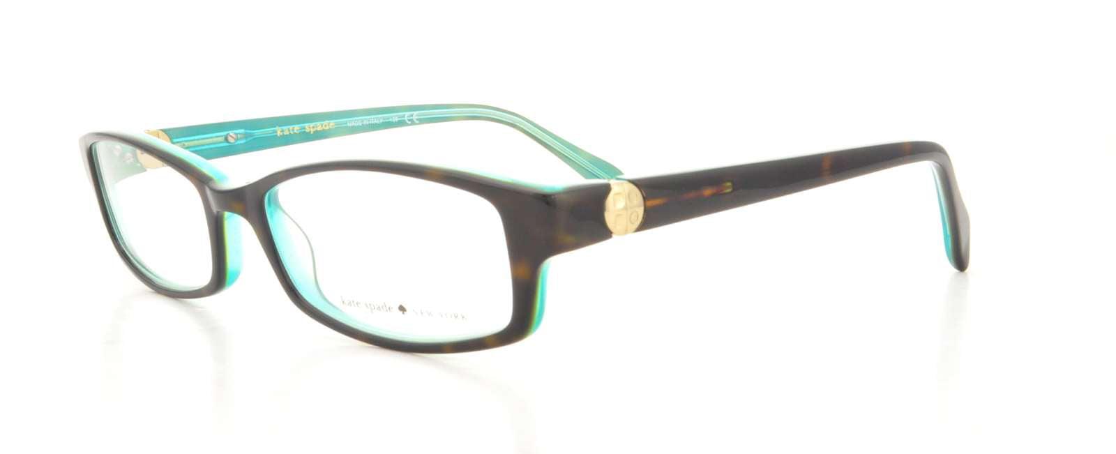 KATE SPADE Eyeglasses ELISABETH 0JEY Tortoise Aqua 49MM - Walmart.com