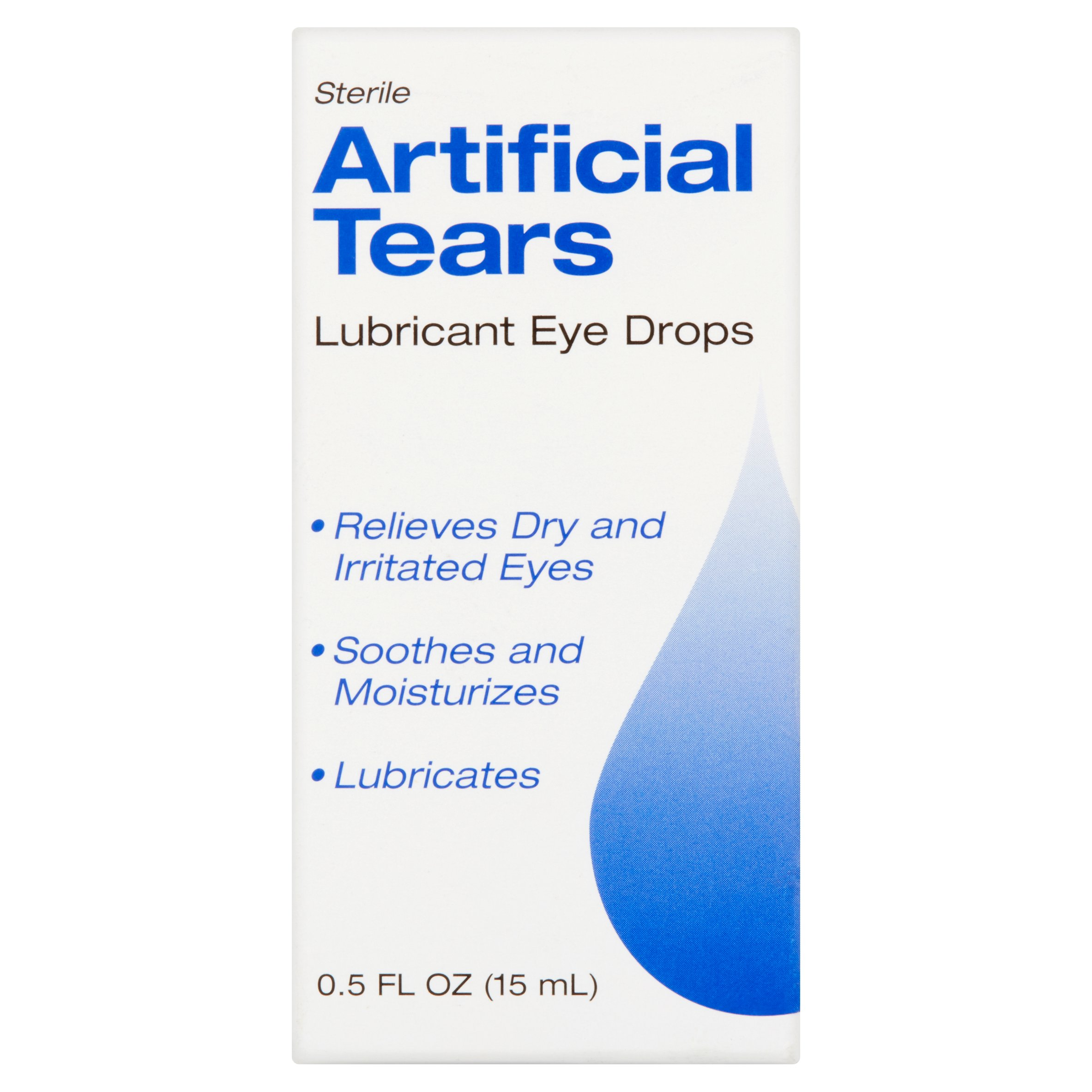 Sterile Artificial Tears Lubricant Eye Drops, 0.5 fl oz