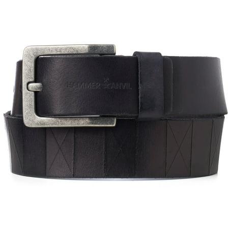 Hammer Anvil Mens Genuine Leather 38 MM Casual Jean Belt (Mens Leather Belt Distressed)