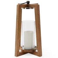 MoDRN Scandinavian Wooden Lantern