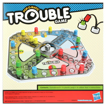 Only At Walmart: Trouble Board Game, Includes Activity Sheet