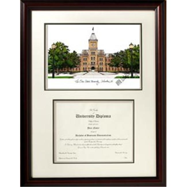 Campus Images OH987V Ohio State University Scholar Framed Lithograph with Diploma