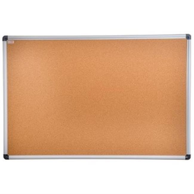 FloortexUSA FCVCBB3624A 36 x 24 in. Viztex Cork Bulletin Board, Cork & Aluminum - image 1 de 1