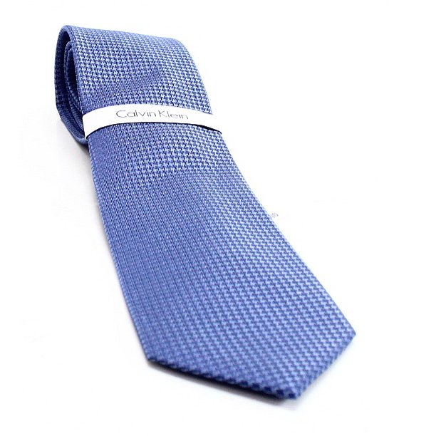 Calvin Klein NEW Blue Infinite Stretch Gingham Plaid Mens Silk Necktie