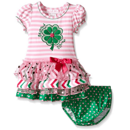 Bonnie Jean baby Girls Green Clover Princess St Patrick's Pink Dress 24 Months - Cute Girl St Patricks Day Outfits