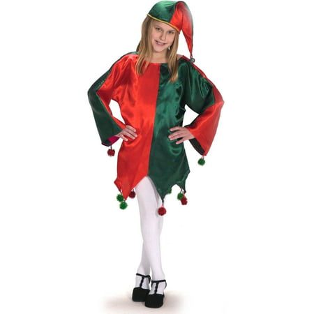 Satin Jingle Elf Child Halloween Costume, Small - Elf Magic Halloween Costumes