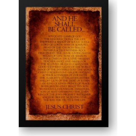 FrameToWall - Names of Christ - And He Shall Be Called... 27x38 Framed Art Print by Inspiration