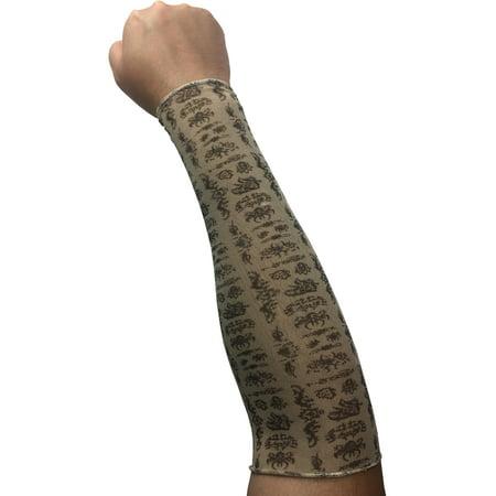 Mens Womens Beetle Heiroglyphs Costume Arm Sleeve Tattoo Medium](Halloween Beetles)