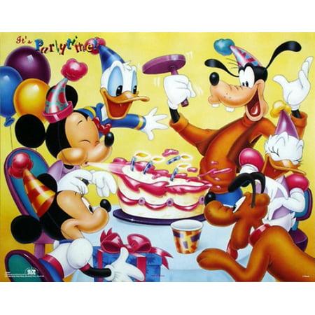 Walt Disney World Halloween Party Reviews (Mickey & Friends Birthday Party Poster Print by Walt Disney (20 x)