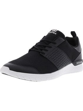 b75d247541fe Product Image Supra Men s Scissor Black   White Ankle-High Fabric  Skateboarding Shoe - 13M