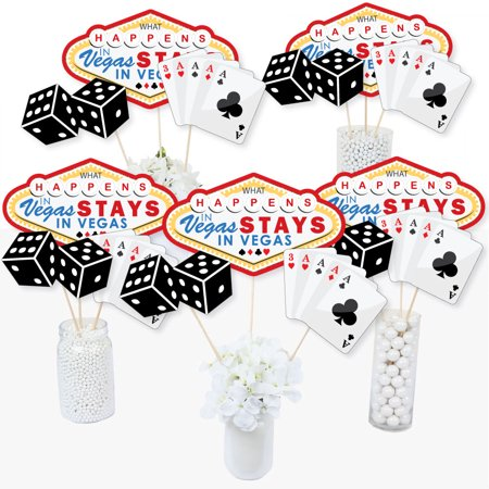 Las Vegas - Casino Party Centerpiece Sticks - Table Toppers - Set of 15