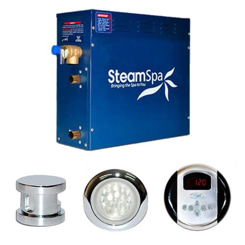 Steam Spa SteamSpa Indulgence 4.5 KW QuickStart Steam Bath Generator Package