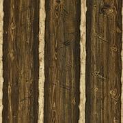Brewster Franklin Dark Brown Rustic Pine Wood Wallpaper