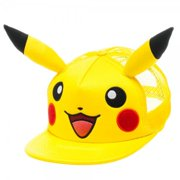 Baseball Cap - Pokemon - Pikachu Big Face with Ears Anime ba1b24pok
