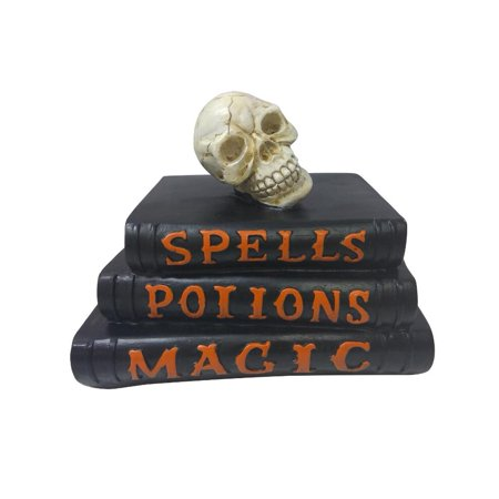 Halloween Tabletop Decor,skull decor, Halloween table decor, Halloween indoor decor Halloween Tabletop Decor,skull decor, Halloween table decor, Halloween indoor decor features a skull on a witch book.