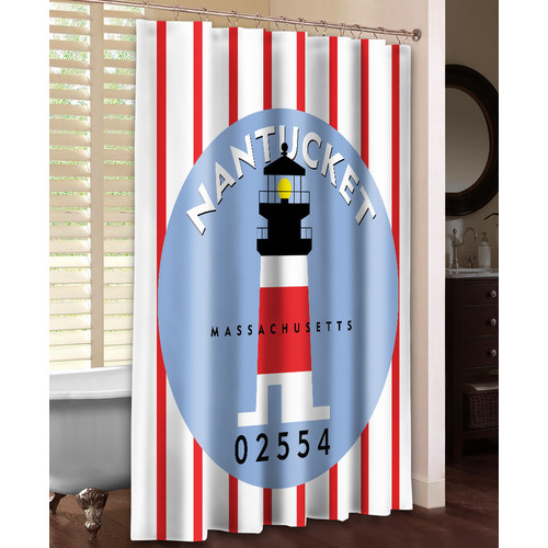 Laural Home Nantucket Single Shower Curtain