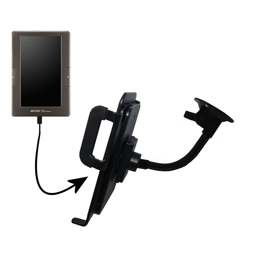 Gomadic Unique Suction Cup Mount for the Archos 70 eReade...