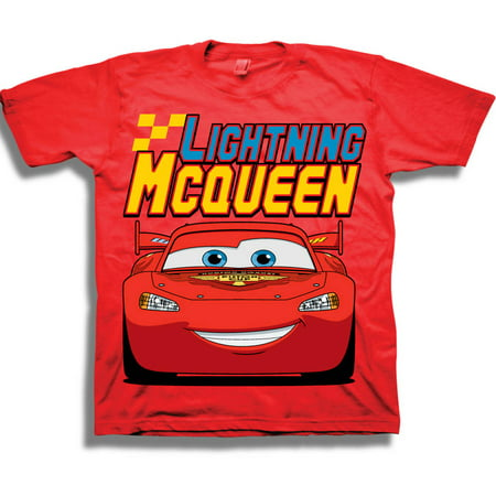 Disney Lightning McQueen Toddler Boy Raglan Graphic T-Shirt](Disney Boys Clothes)