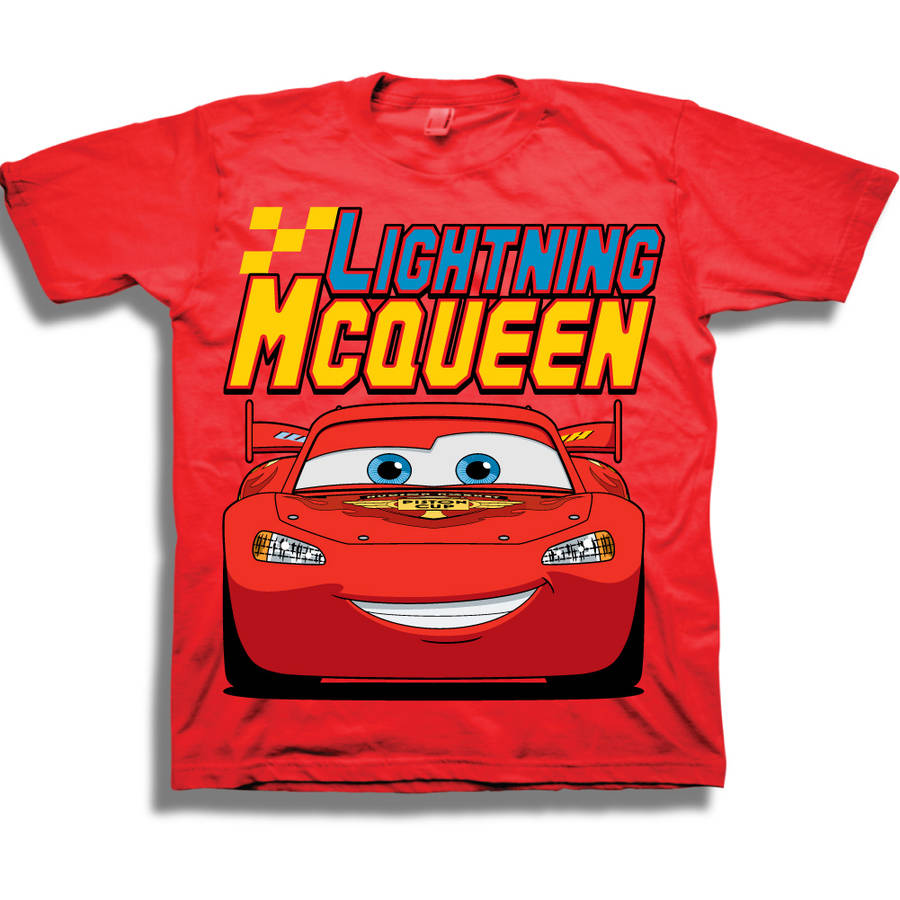 Disney Cars Lightning McQueen Toddler Boy Raglan Graphic T-Shirt