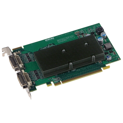 Matrox M9125-E512F Matrox M9125 Graphic Card - 512 MB DDR2 SDRAM - PCI Express x16 - 2560 x 1600 - OpenGL 2.0, DirectX 9.0 - 2 x Total Number of DVI - 2 x Monitors Supported
