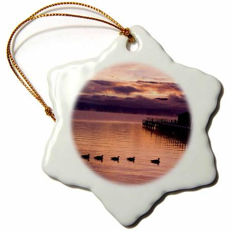 3dRose California. Lake Tahoe, Sunset - US05 LHO0032 - Lisa Hoffner - Snowflake Ornament, 3-inch ()