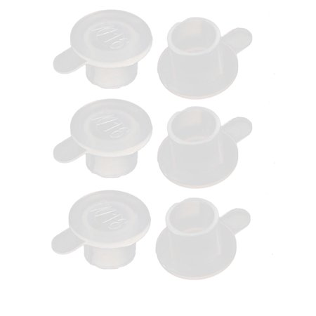 6pcs M11 PE Flat Blanking End Tube Insert Cap Round Cover Transparent - image 2 of 2