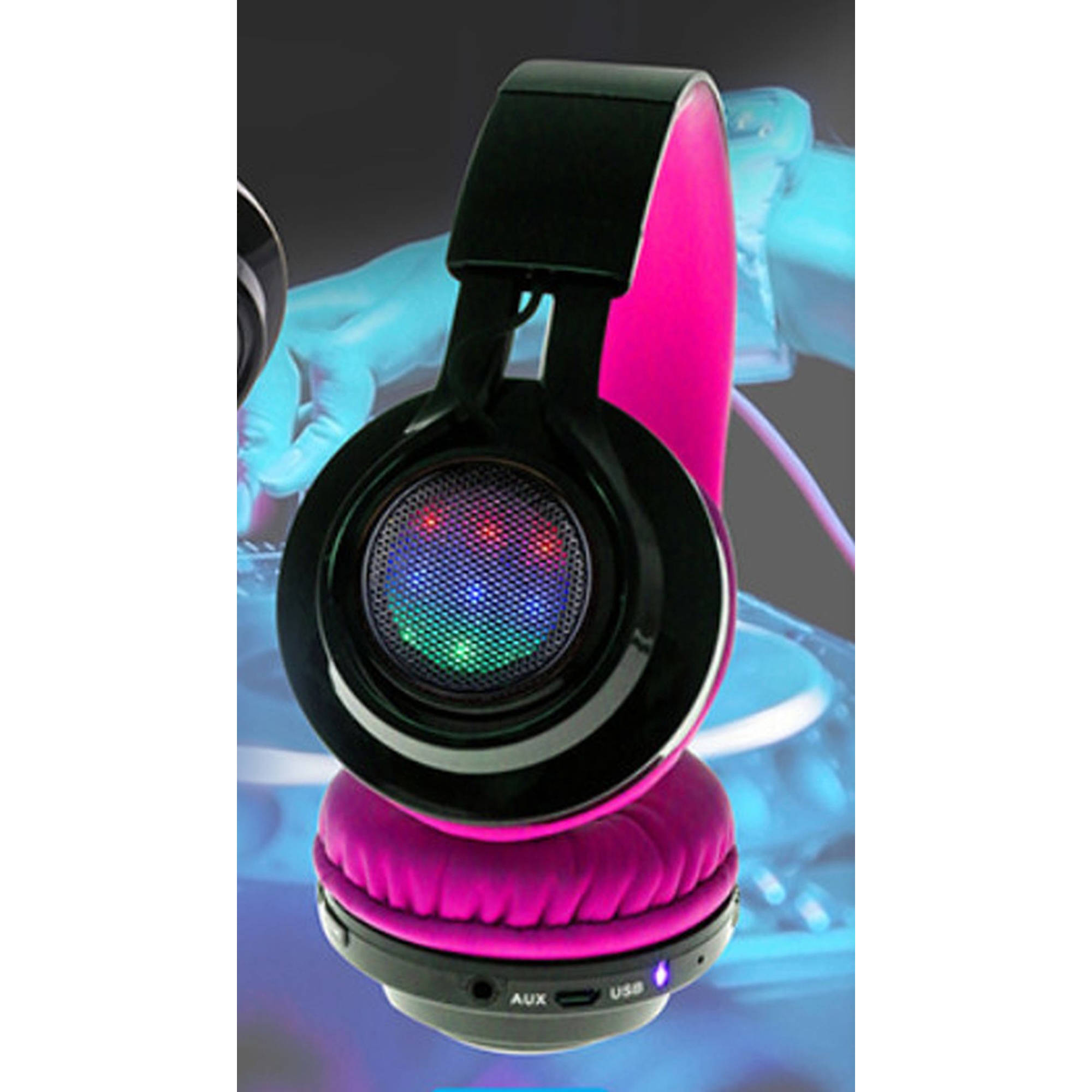 OTH Bluetooth Flashing Headphone, Pink