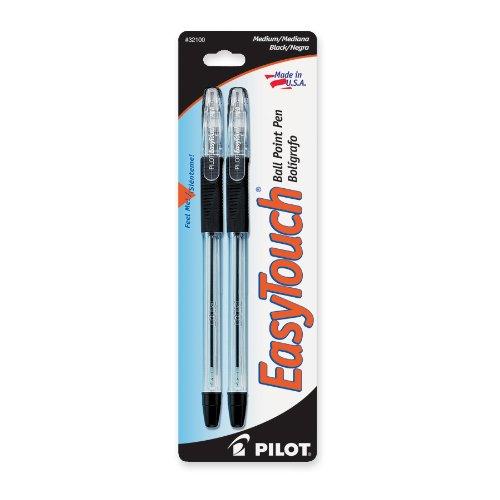 Pilot Pil-32100 Easytouch Ballpoint Pen - Black Ink - 2 / Pack (pil32100)