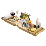 Best  - Bamboo Bathtub Caddy Tray Review