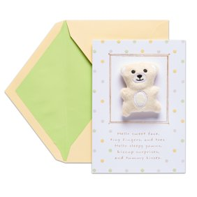 Funny twinkle little star baby shower or birthday party photo american greetings teddy bear baby congratulations card with foil m4hsunfo