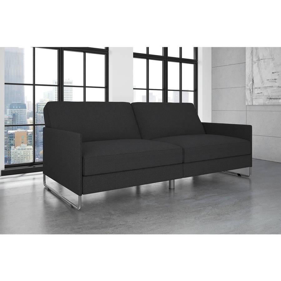 Dorel Home Pembroke Convertible Futon, Grey Linen by DHP