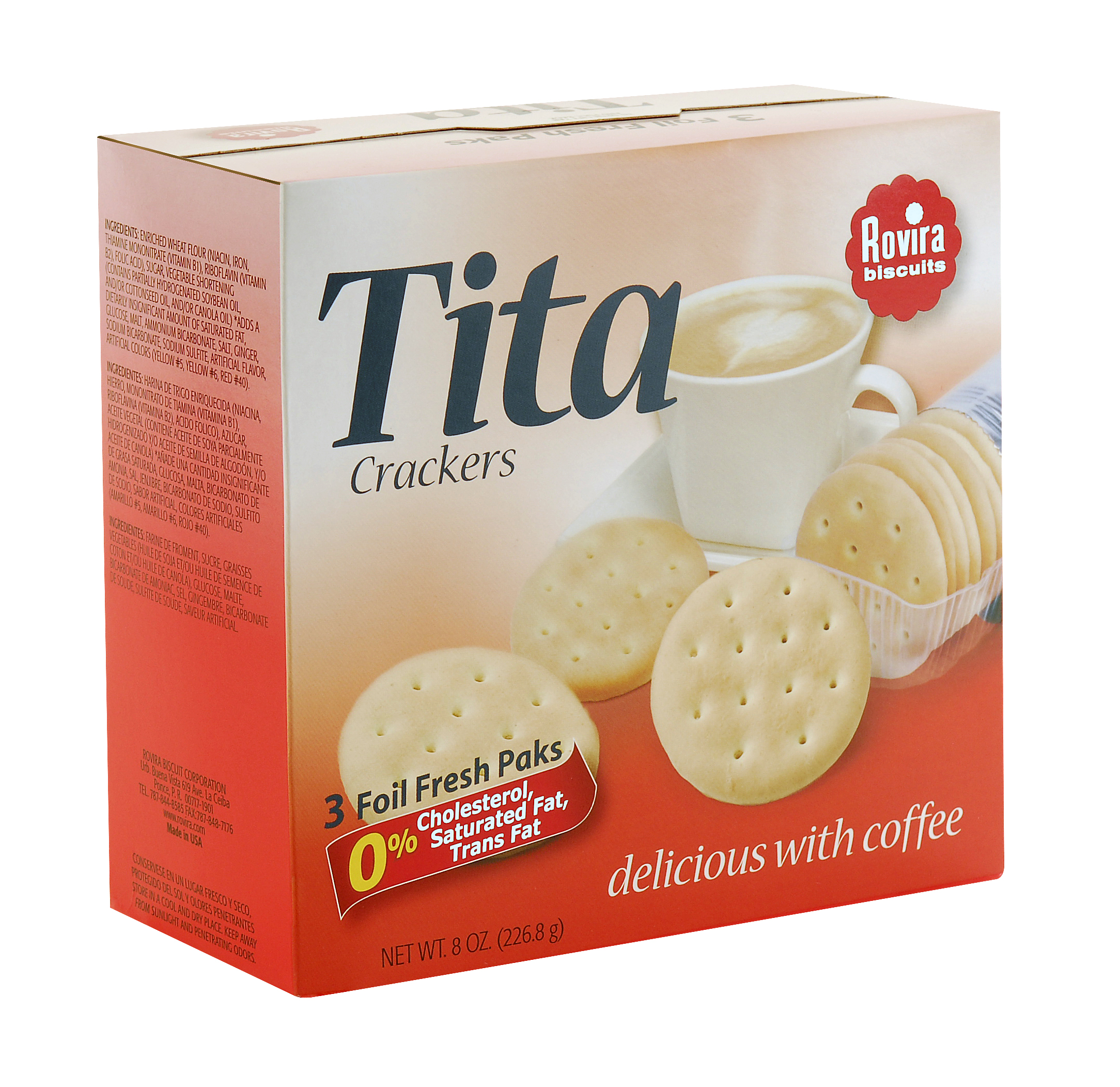 Rovira Tita Crackers, 8 Oz.