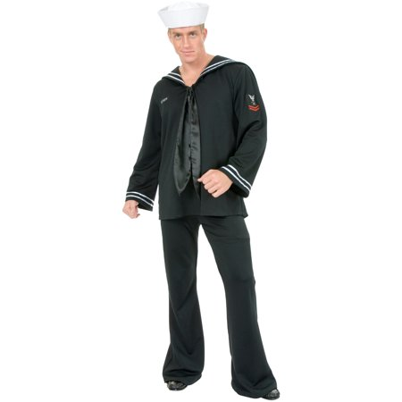 Adult Men's Black South Seas Sailor Navy Costume (South Side Ballroom Halloween)