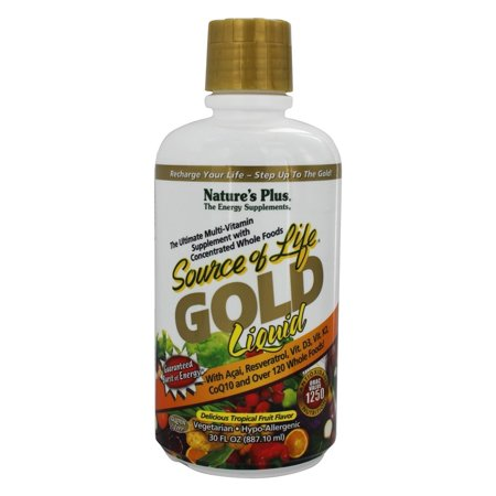 Nature's Plus - Source Of Life Gold Liquid Ultimate Multi-Vitamin Delicious Tropical Fruit Flavor - 30