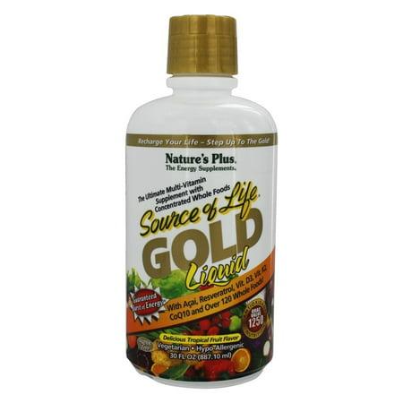 Nature's Plus - Source Of Life Gold Liquid Ultimate Multi-Vitamin Delicious Tropical Fruit Flavor - 30 oz.