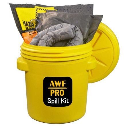 Overpack Spill (20 Gallon Universal Spill Kit, Pro Grade, 50 PC: Overpack Drum, 35 Heavy Duty Pads 15