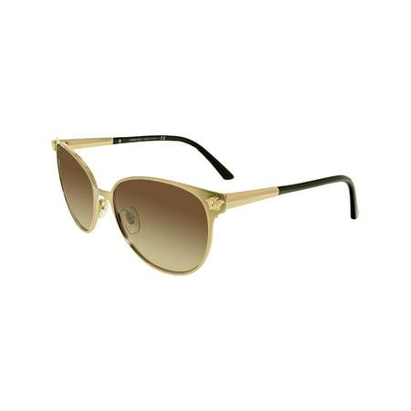 Versace Women's VE2168-133913-57 Gold Oval (Versace Sunglass Repair)