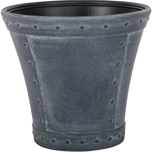 Suncast Rivanna Resin Planter, Zinc, Contains 2 Planters