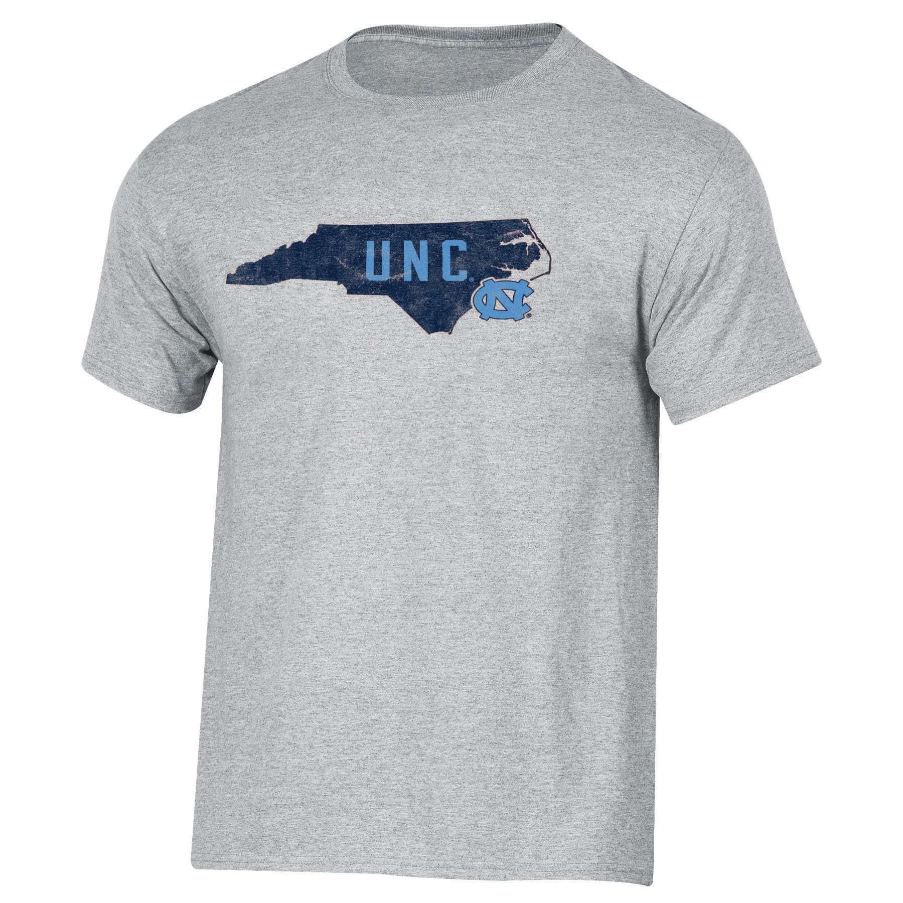 Men's Russell Heathered Gray North Carolina Tar Heels Inner-State T-Shirt