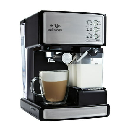 Mr. Coffee Cafe Barista Espresso Maker, Black/Silver (Black & Decker Espresso Maker)
