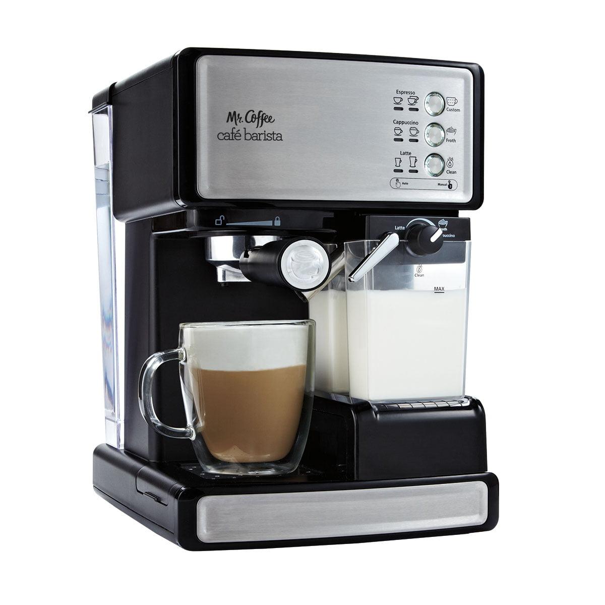 Mr. Coffee Cafe Barista Espresso Maker, Black/Silver (BVMC-ECMP1000)