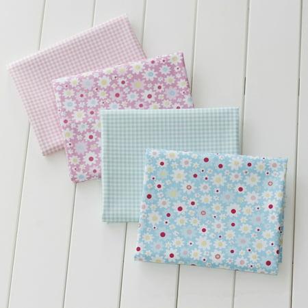 16Pcs Floral Cotton Fabric DIY Crafts Toys Clothes Patchwork Quilting 25 x