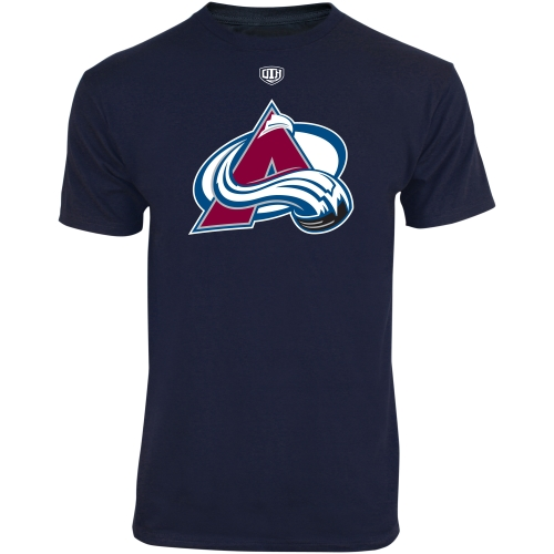 Old Time Hockey Colorado Avalanche Youth Big Logo Crest T-Shirt - Navy Blue