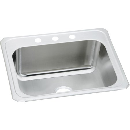 """Elkay Pursuit Stainless Steel 25"""" x 22"""" x 10-1/4"""", Single Bowl Top Mount Laundry Sink Brushed Satin"""